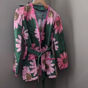 Floral Green and Pink Jacket / Cover-up